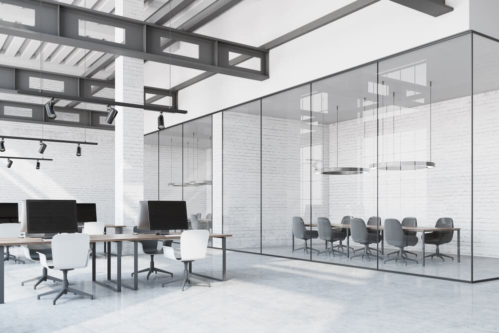 modern glass office partitions in sydney