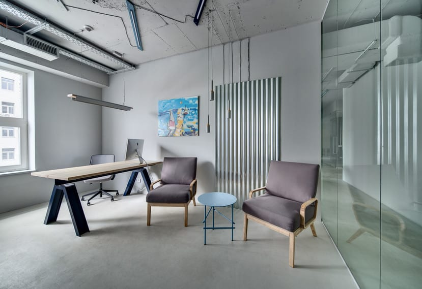 glass walls for a new office