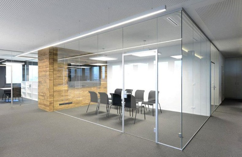 professionally installed glass office partitions
